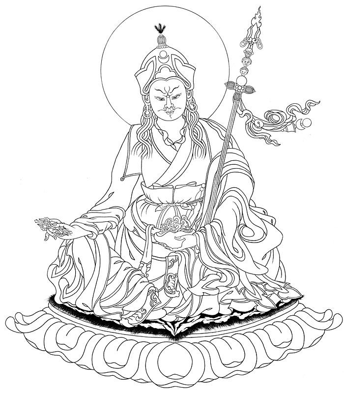 Padmasambhava line drawing